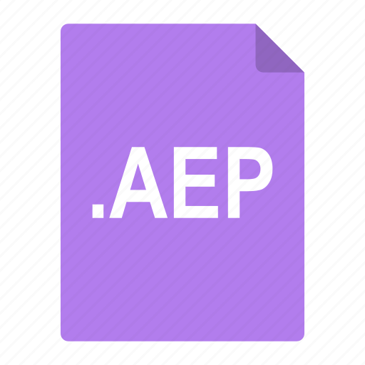 adobe, aep, after, effects, file, format icon