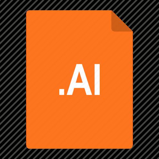 adobe, file, format, graphics, illustrator icon