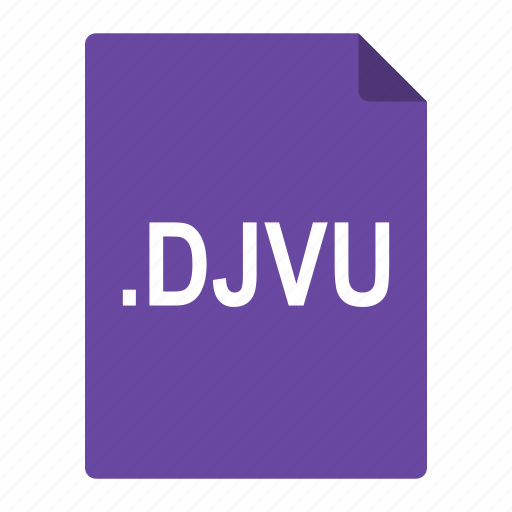 djvu, documents, file, format, scanned, store icon