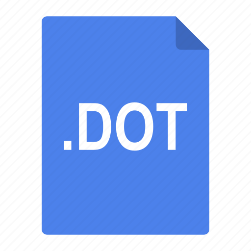 dot, file, format, microsoft, office, template icon