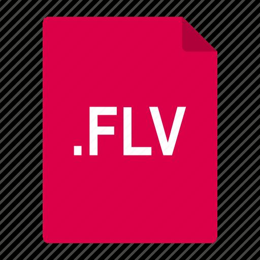 adobe, file, flash, flv, format, video icon