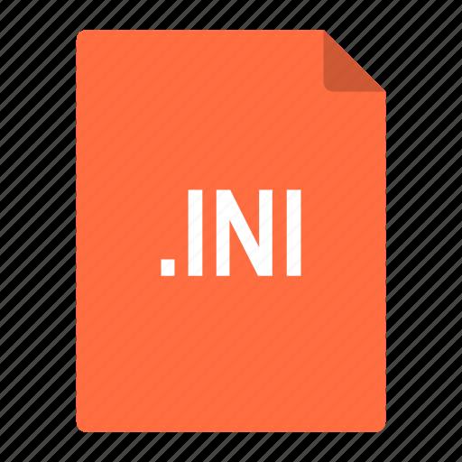 configuration, file, format, informal, ini, standard icon