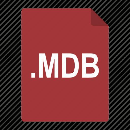 access, data, file, format, mdb, microsoft icon