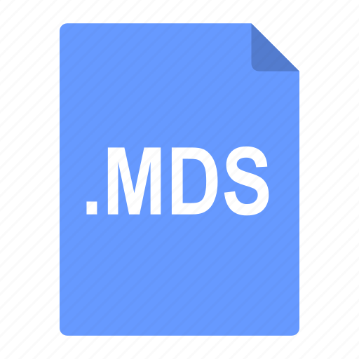 disks, file, format, image, iso, mds icon