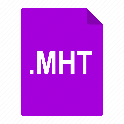 file, format, html, internet, mht, mime, web icon