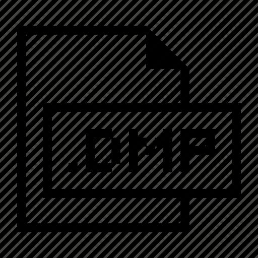 dmp, document, extension, file, format icon
