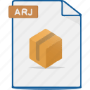 arj, compress, archive, file, format icon