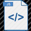 file, format, javascript, js, script icon