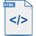 file, format, htm, html, source, webpage, website icon