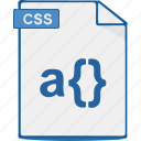 css, file, format, style, stylesheet icon