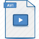 movie, video, avi, file, format icon