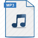 sound, audio, format, music, mp3, file, voice icon