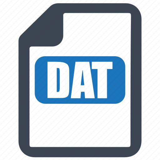 dat, database, file, format icon