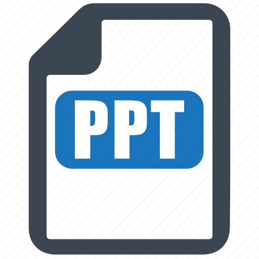 file, format, ppt, presentation icon