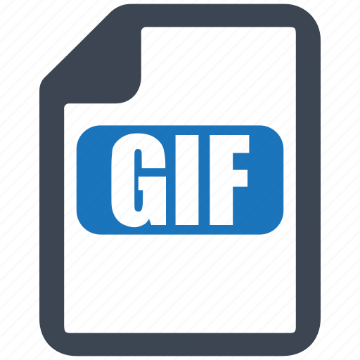 file, format, gif, gif document icon
