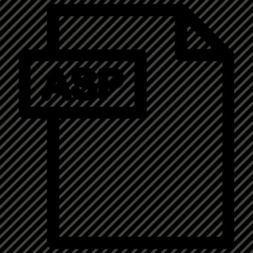 asp, asp document, asp file, asp format icon