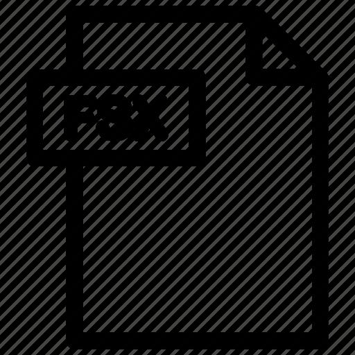 fsx, fsx document, fsx file, fsx format icon