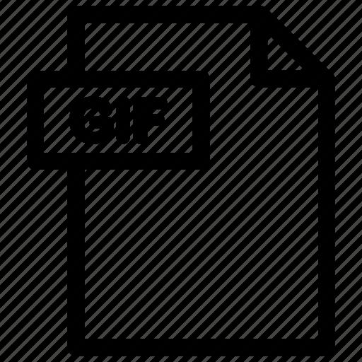 gif, gif document, gif file, gif format icon