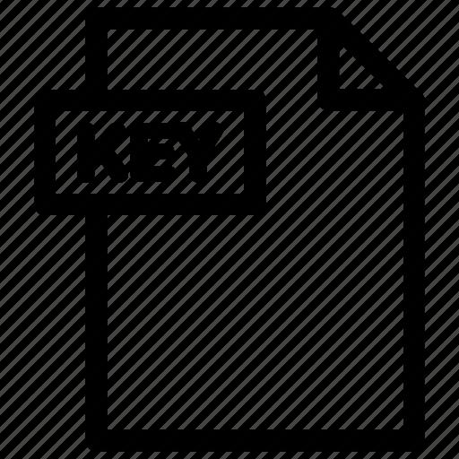key, key file, key format icon