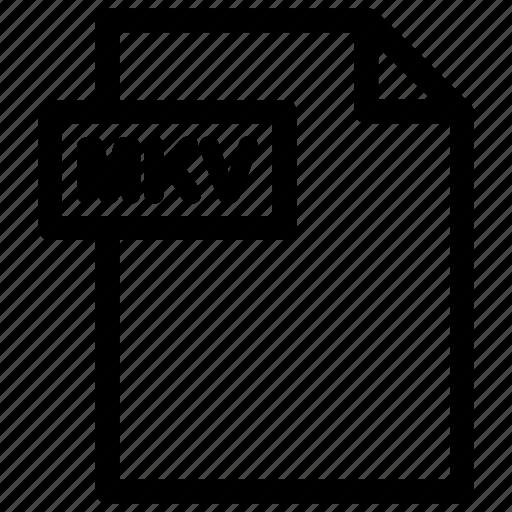 mkv, mkv file, mkv format, video file icon