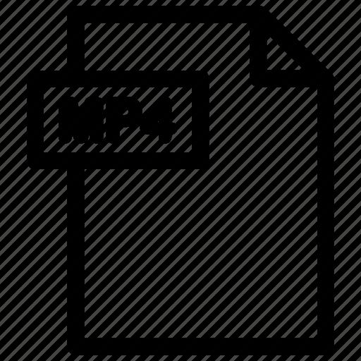 mp4, mp4 file, mp4 format, video file icon