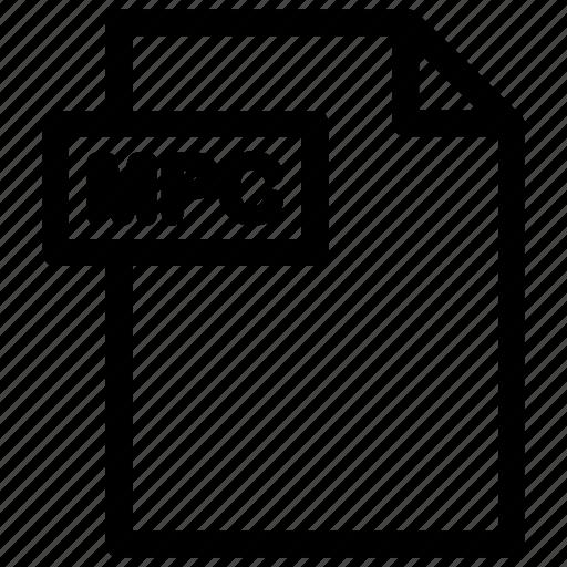 mpc, mpc document, mpc file, mpc format icon