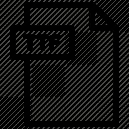 font file, truetype font, ttf, ttf format icon