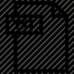 text file, txt, txt format icon