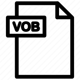 vob, vob file, vob format icon