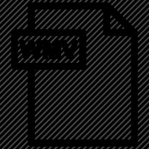 video file, wmv, wmv format icon