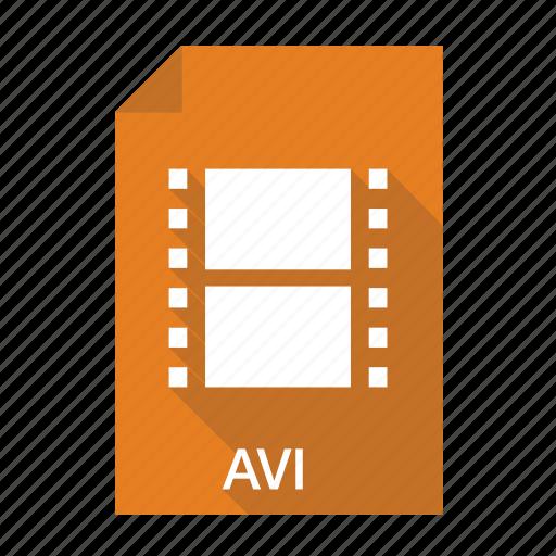 avi, extension, file, film, format, movie, video icon