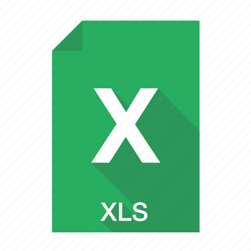 document, excel, extension, format, table, xls icon