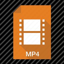 file, film, media, movie, mp4, video icon