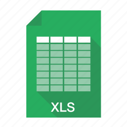documents, excel, file, format, table, xls icon