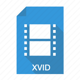 extension, file, film, format, movie, video, xvid icon
