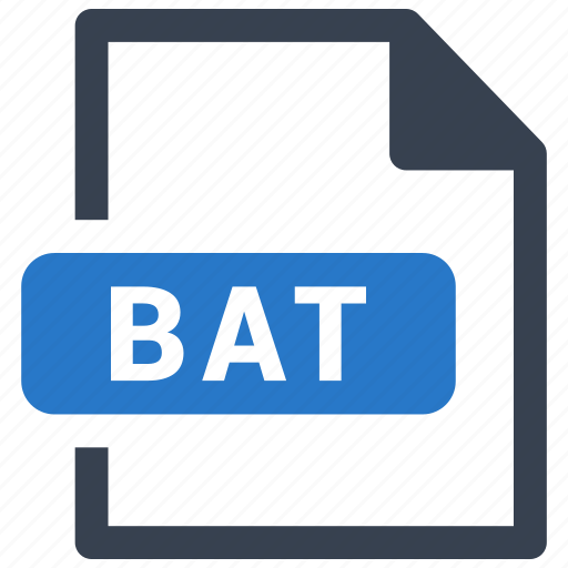 bat, file, format icon