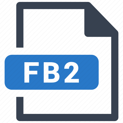 fb2, file, format icon