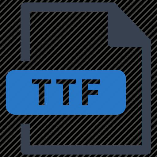 File, format, ttf icon - Download on Iconfinder