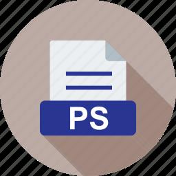 file, information, presentation, ps, template, white icon