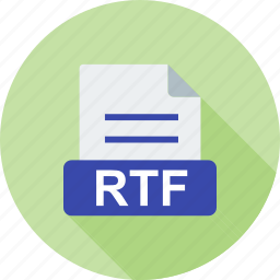 document, extension, file, format, interface, rtf, text icon