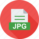 extension, file, files, graphic, image, jpg, sign icon