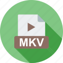 clip, file, internet, mkv, play, player, web icon