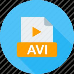 avi, clip, file, internet, play, player, web icon