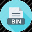 bin, data, delete, file, paper, recycle, trash