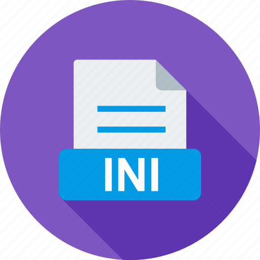 computer, extension, file, format, ini, type, xml icon