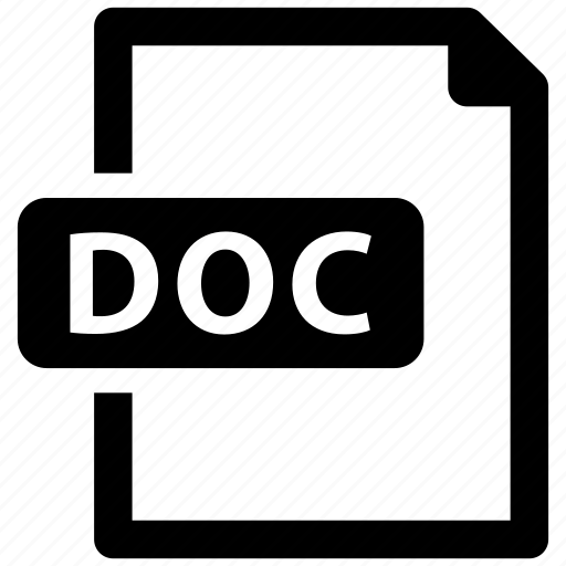 Doc, file, format icon