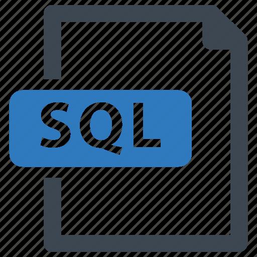 file, format, sql icon