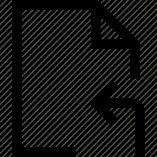accept, arrow, document, enter, file, inside, left icon