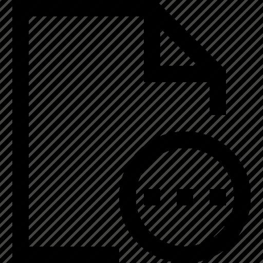 document, dots, ellipsis, file, loading, process, wait icon
