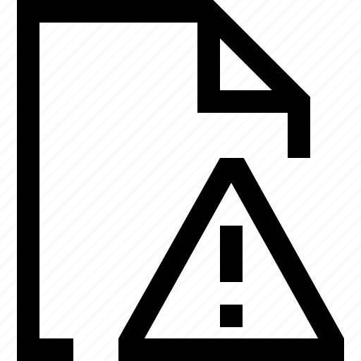document, exclamation, file, mark, round, triangle icon